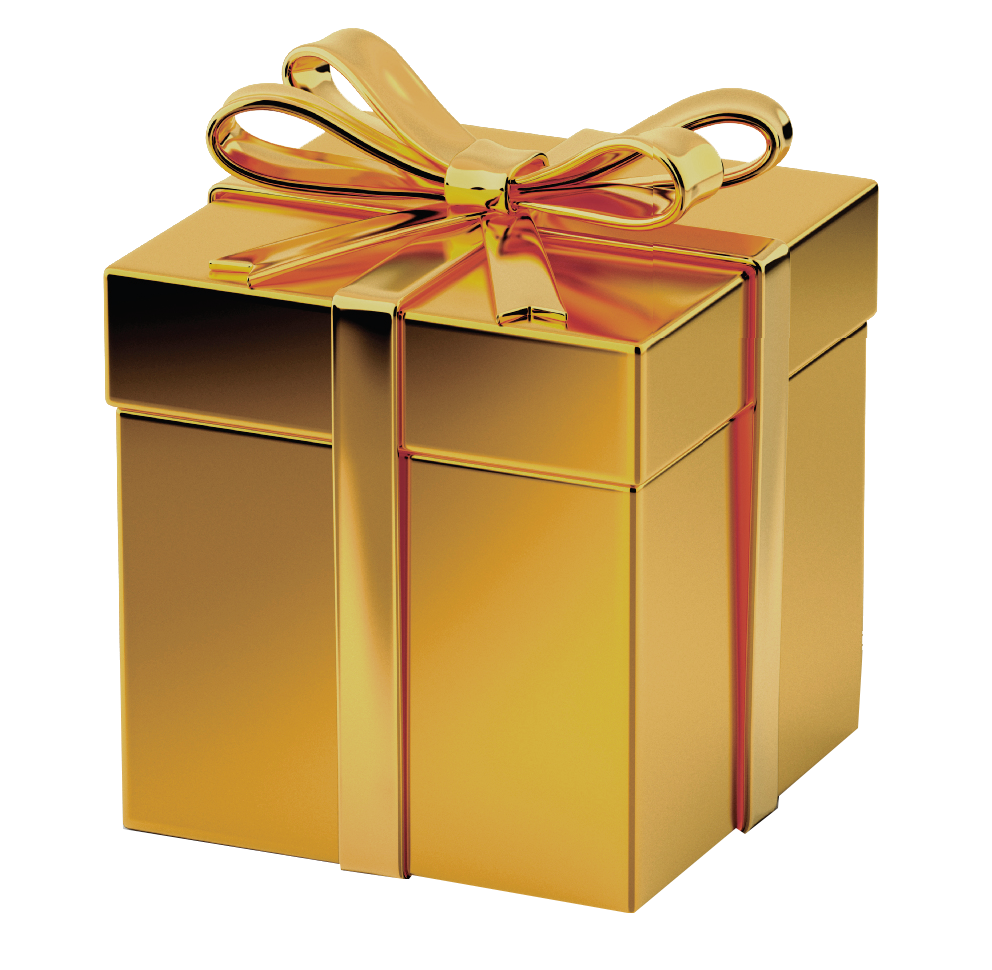 gold gift box transparent image #11322