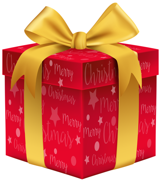 merry christmas red gift png clip art image gallery #11362