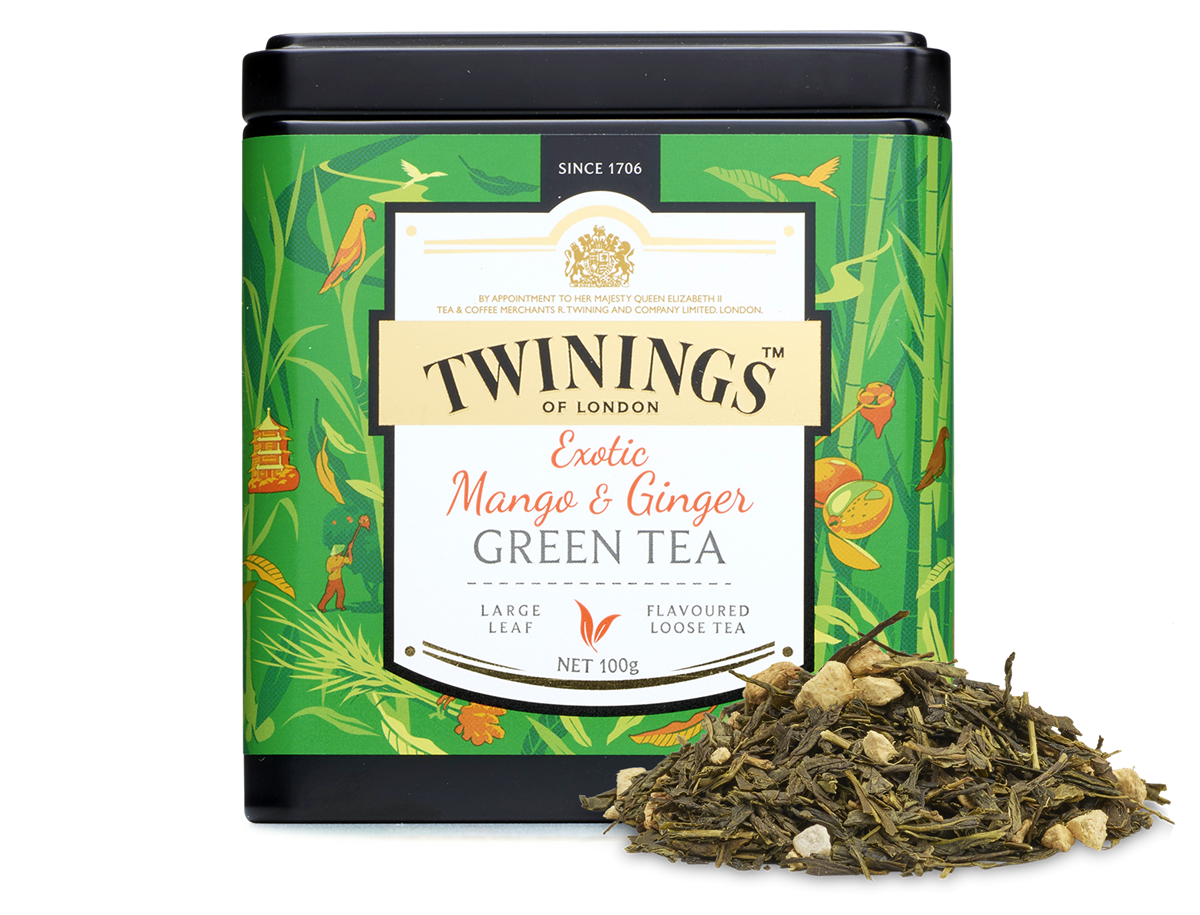 ginger tea, discovery collection exotic mango and ginger green tea #27515