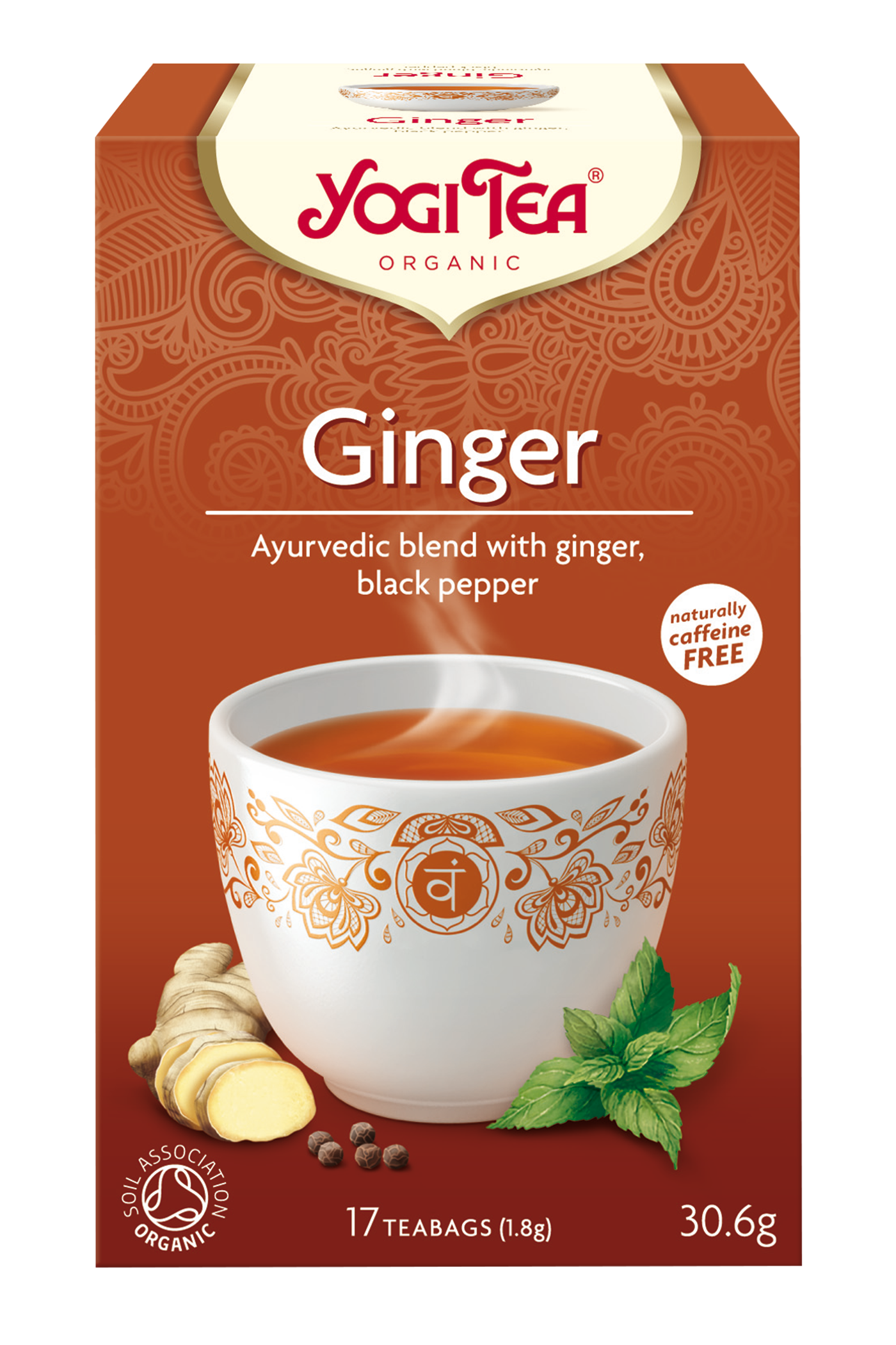 ginger tea, yogi tea ginger fruity spicy clear #27507
