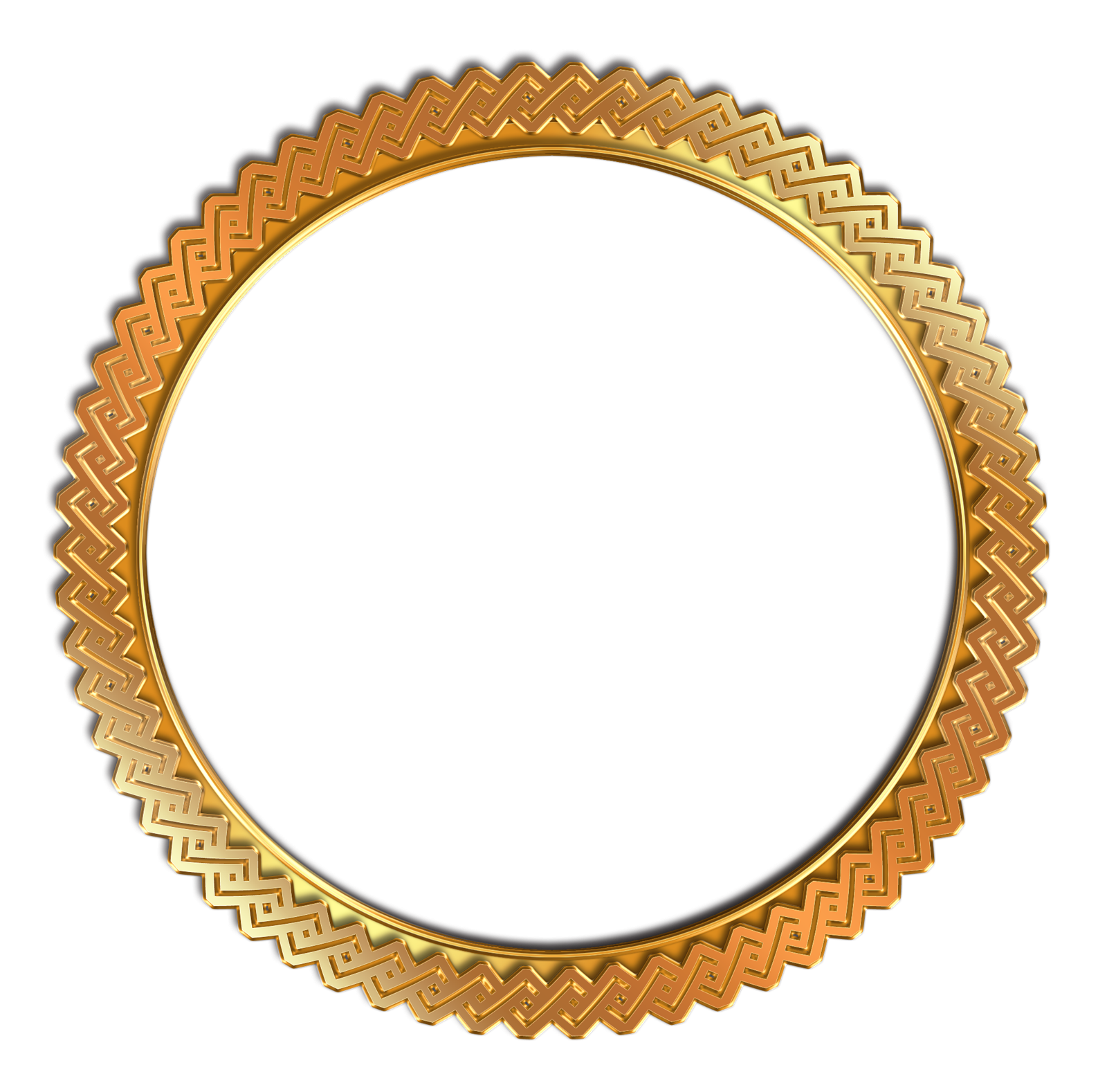 circle vintage photo frame png transparent gold #24188
