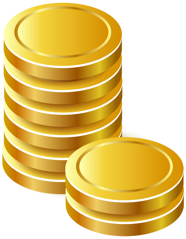 gold coins png clipart #24163