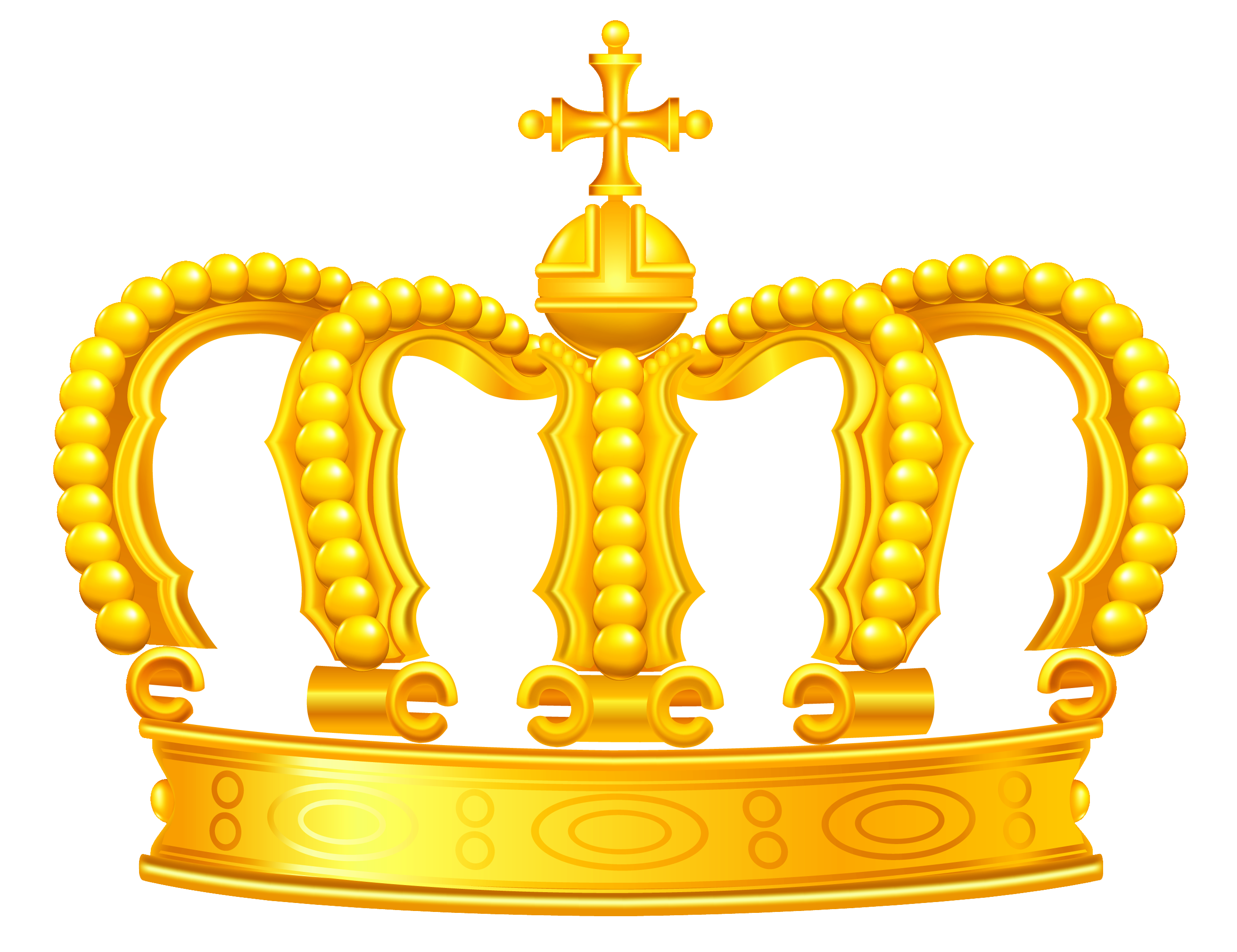 gold crown png clipart #24158