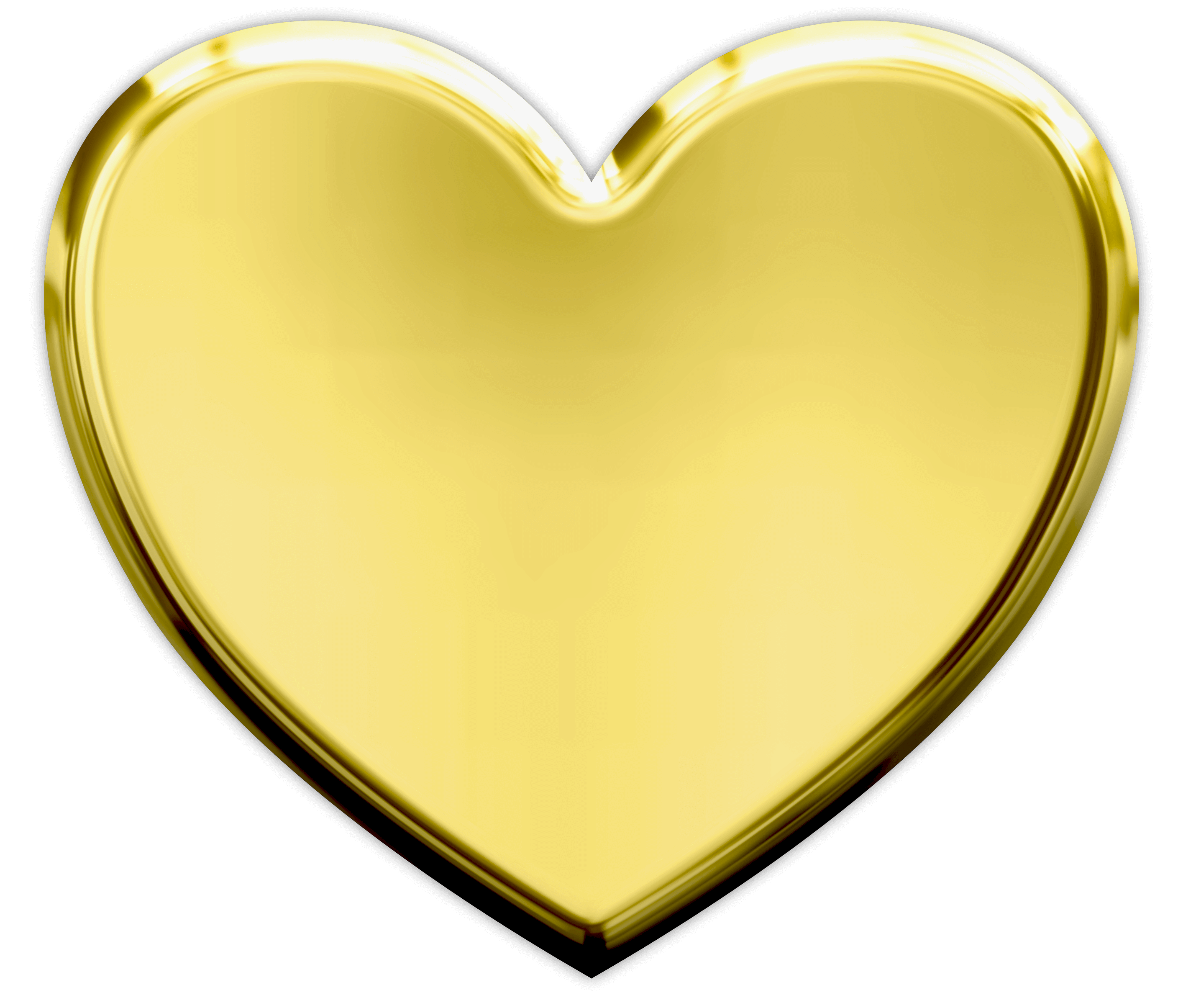 gold heart png transparent image #24136