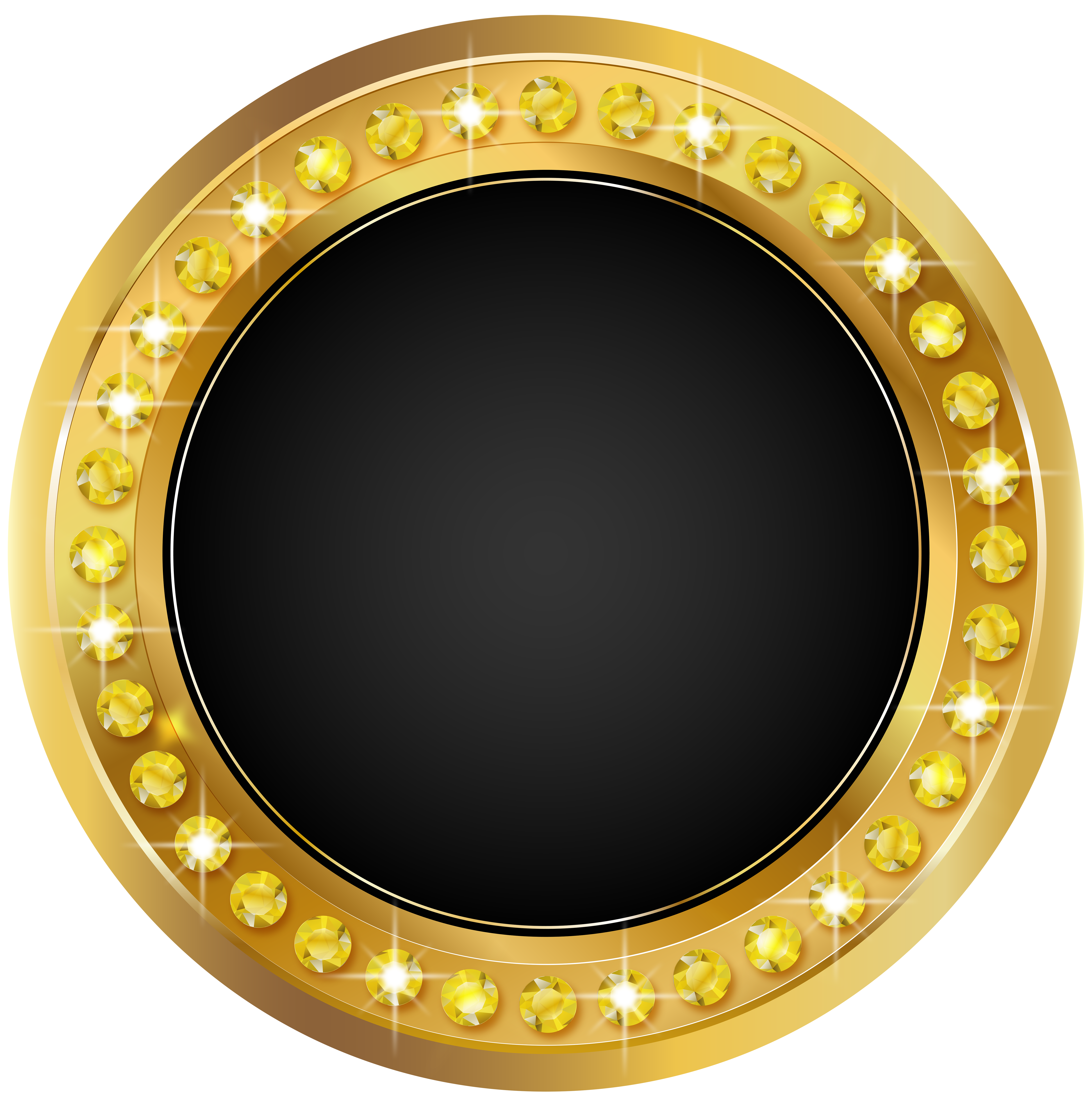 seal gold black png transparent clip art image gallery #24161