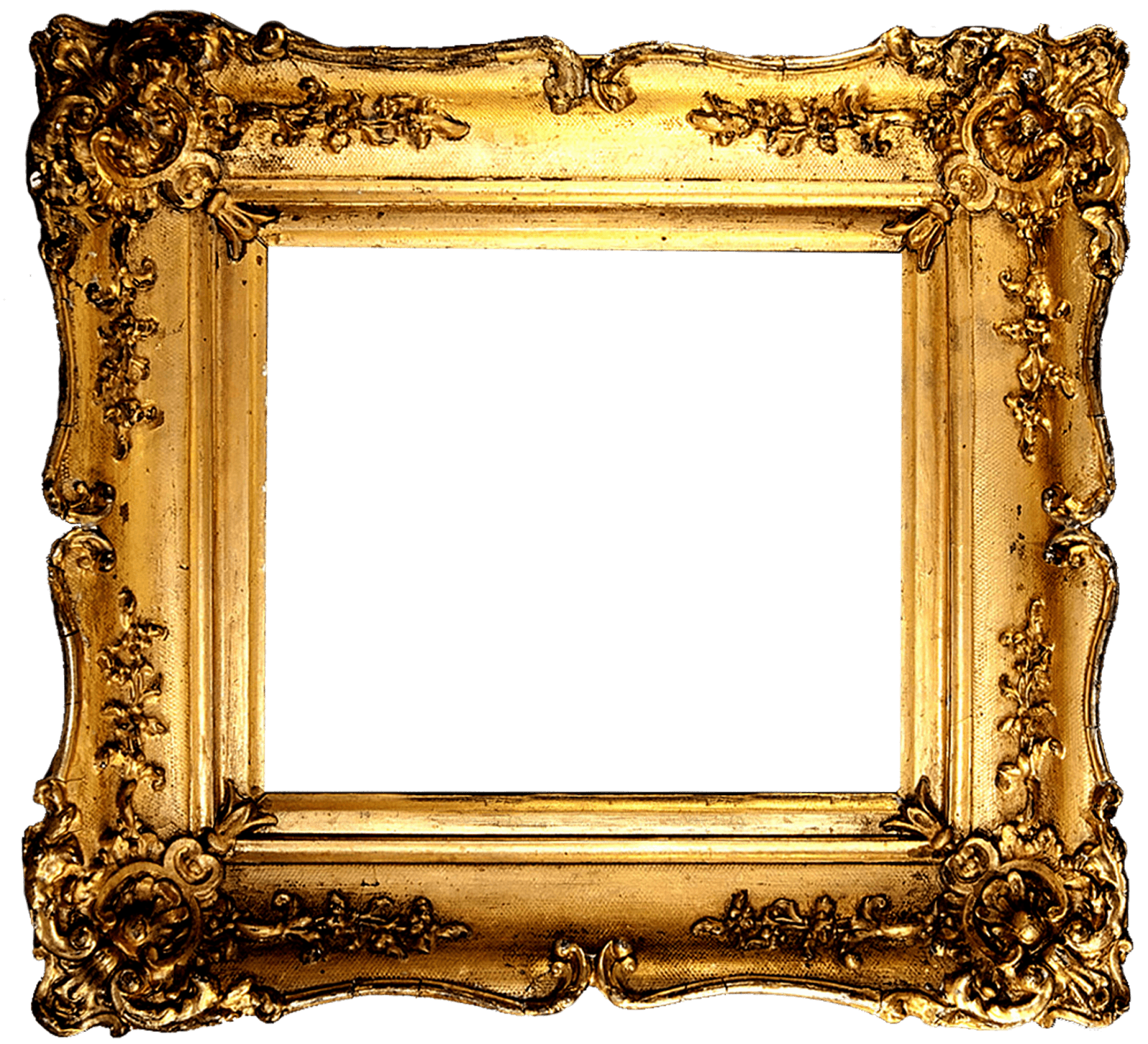 vintage gold frame transparent png #24169