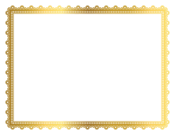 download gold border frame transparent picture png 25149