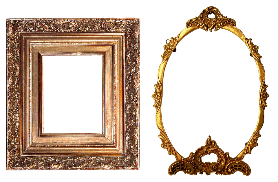 gold frame, frame carved gold image pixabay #25117