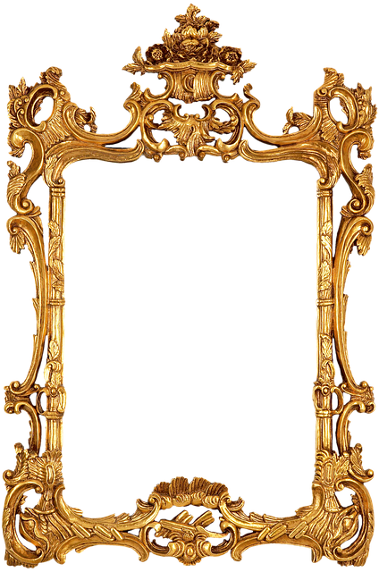 gold frame, illustration frame gold decorative antique #25113