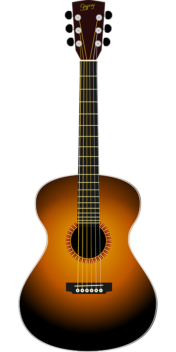 acoustic guitar vector graphic pixabay #12866