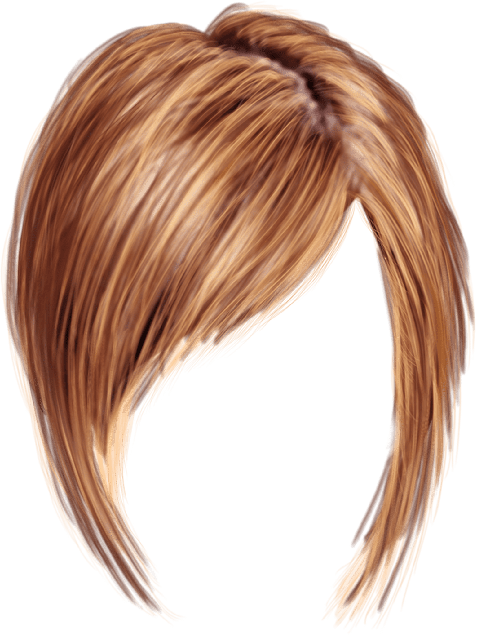 short women hair transparent png stickpng #12751