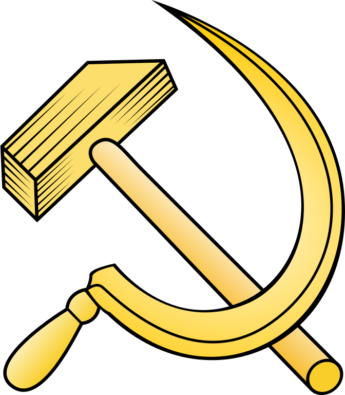 file golden hammer and sickle svg wikimedia commons #26400