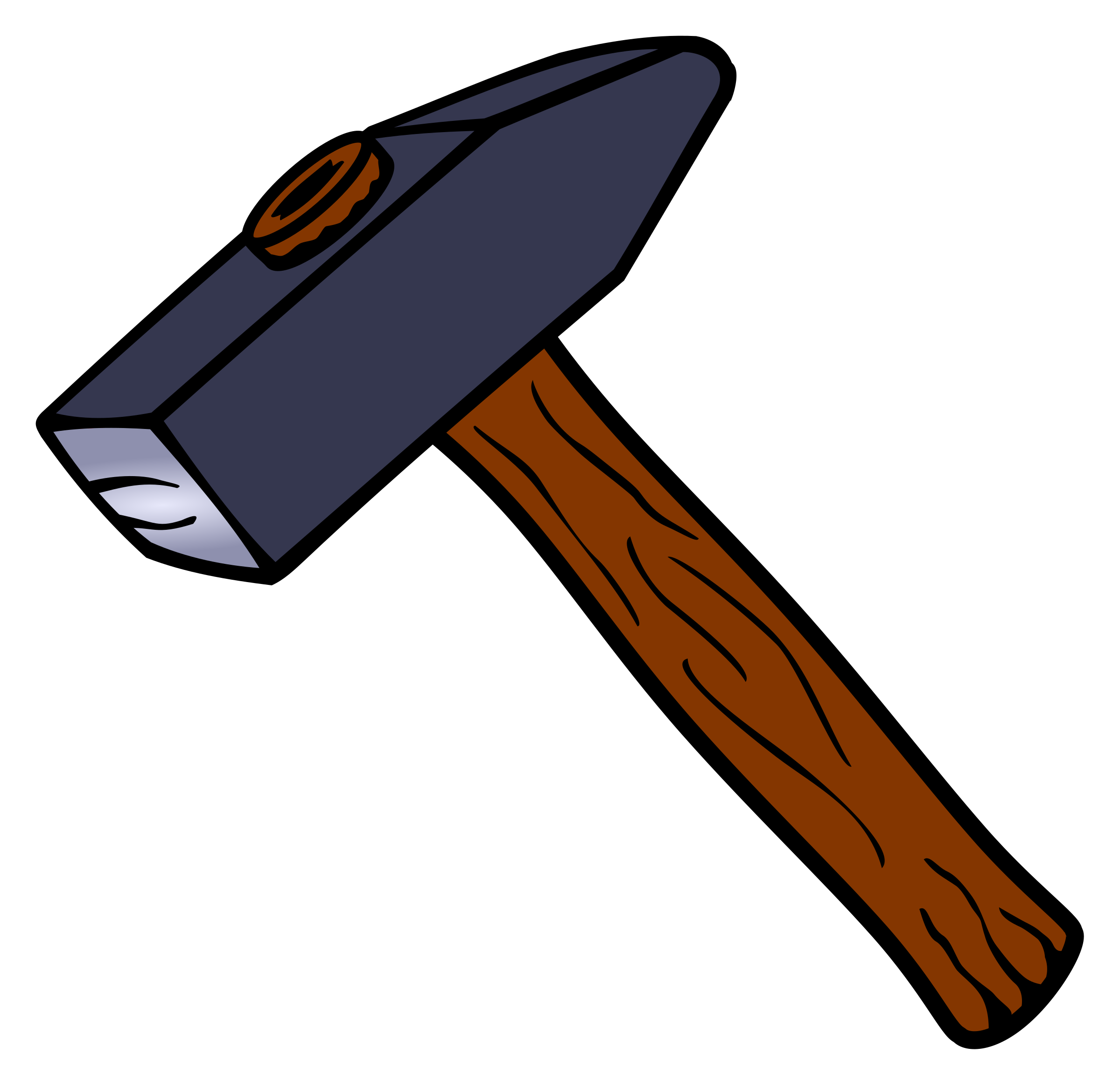 clipart hammer coloured #25405