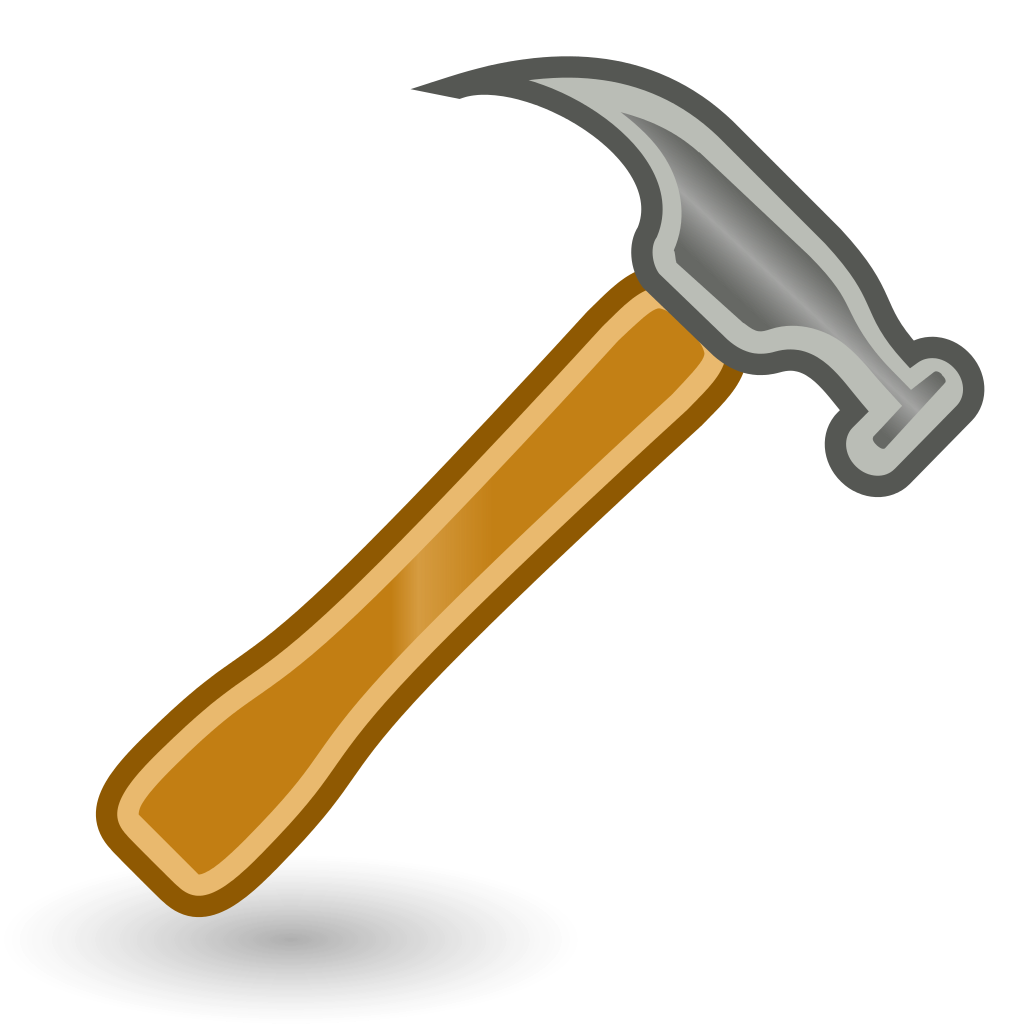 file tools hammer svg wikimedia commons #25397
