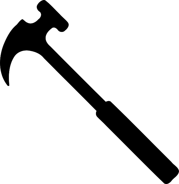hammer silhouette black vector graphic pixabay #25417