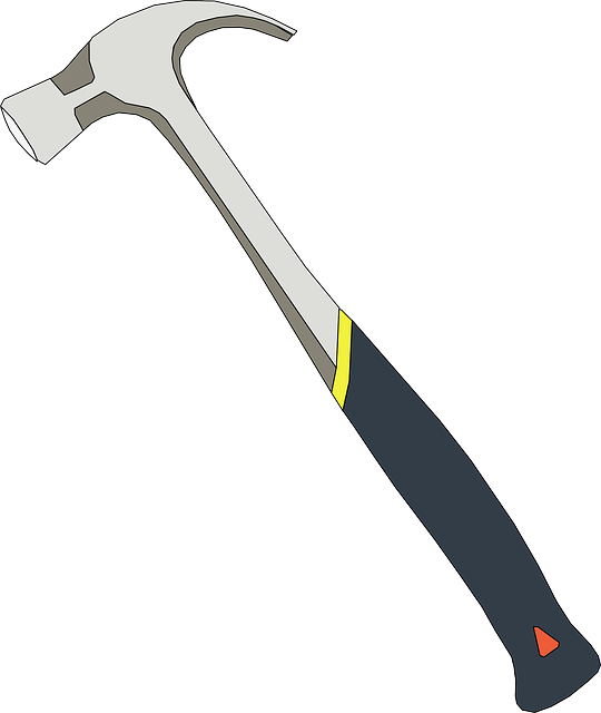 vector graphic hammer claw tool carpentry work #25401