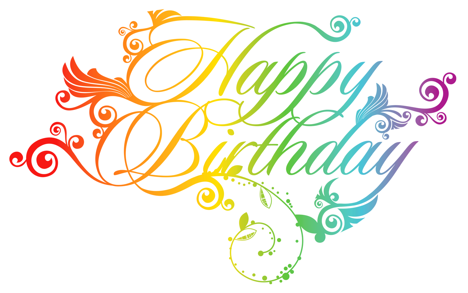 happy birthday png design elements #9243