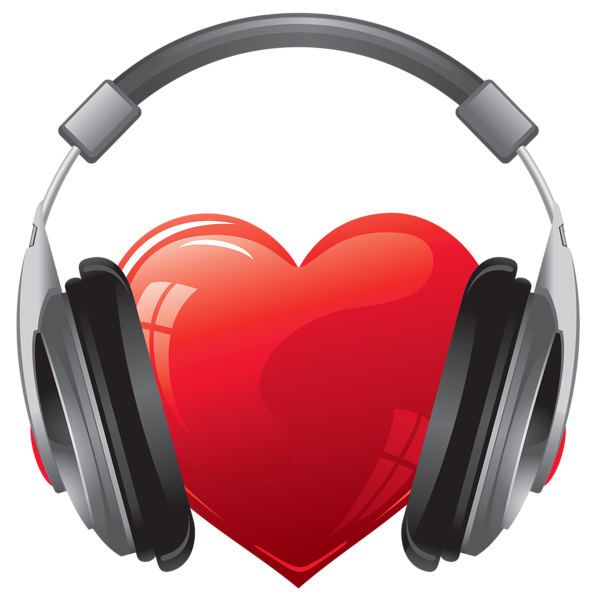 heart with headphones png clipart image gallery #14702