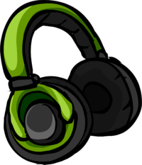 image green headphones icon club penguin wiki #14703