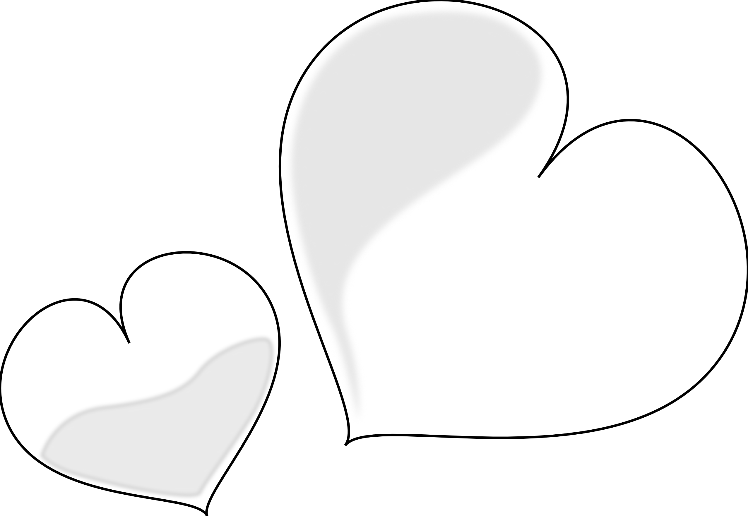 best black and white heart clipart tattos #27652