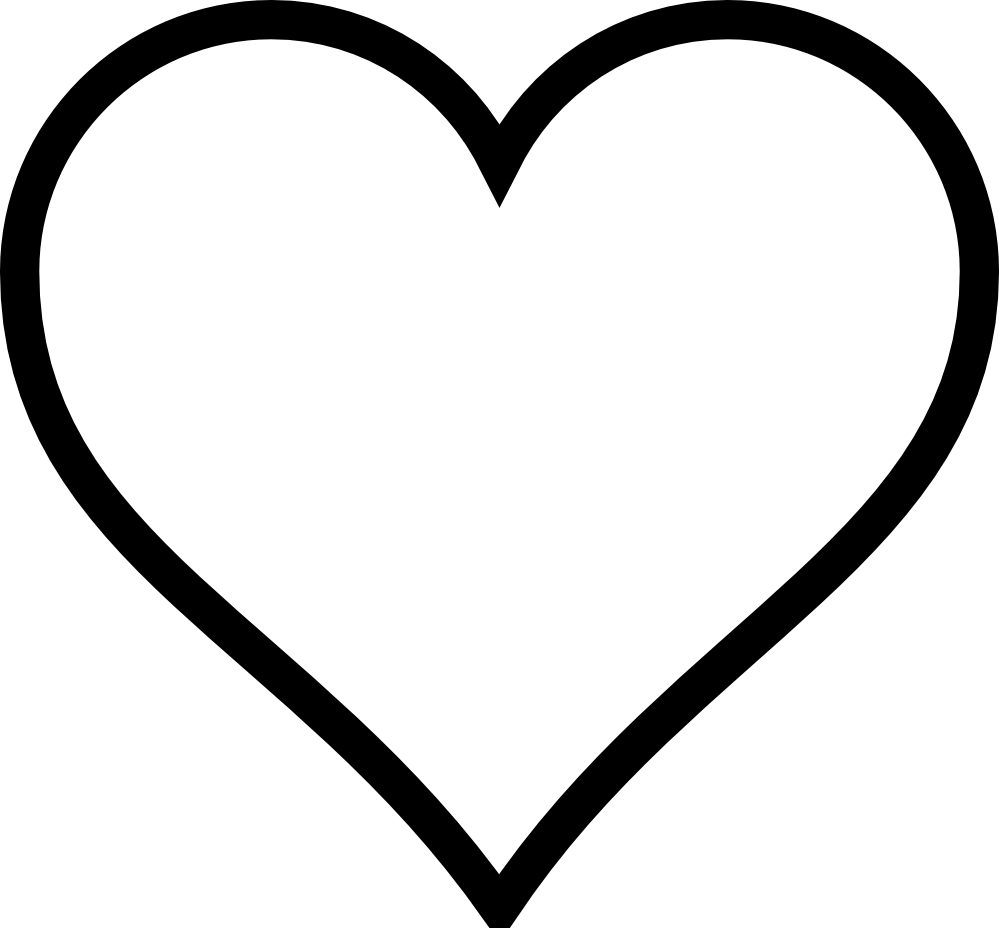 black and white heart cliparts #27635