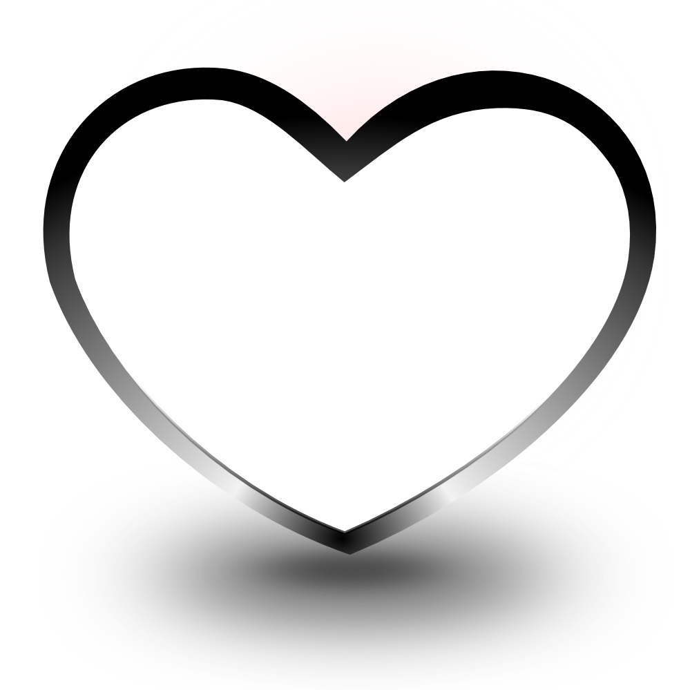 black and white heart images download clip art #27645