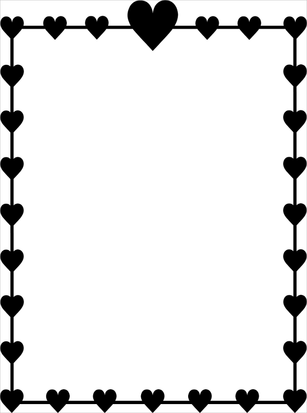 frame heart clipart black and white #27642
