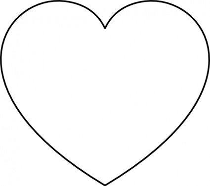 heart clipart black and white clipart panda #27632