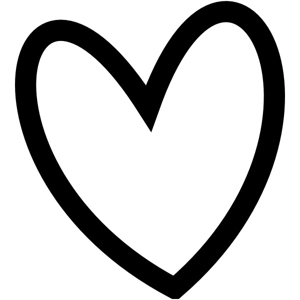 heart clipart black and white download best #27643