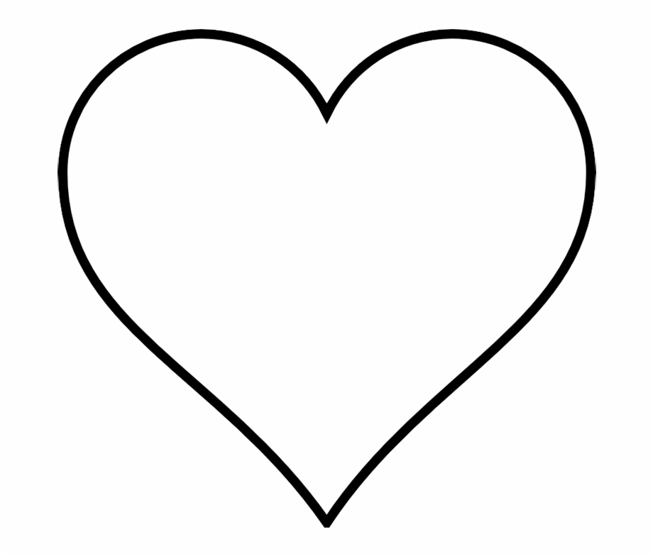 heart clipart black and white white heart clipart #27657
