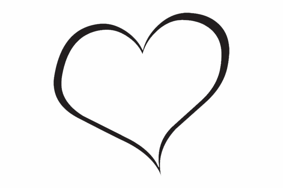 red heart clipart heart clipart black and white png #27638