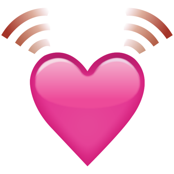 download beating pink heart emoji #14332