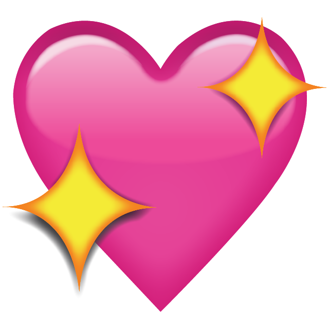 download sparkling pink heart emoji icon #14329