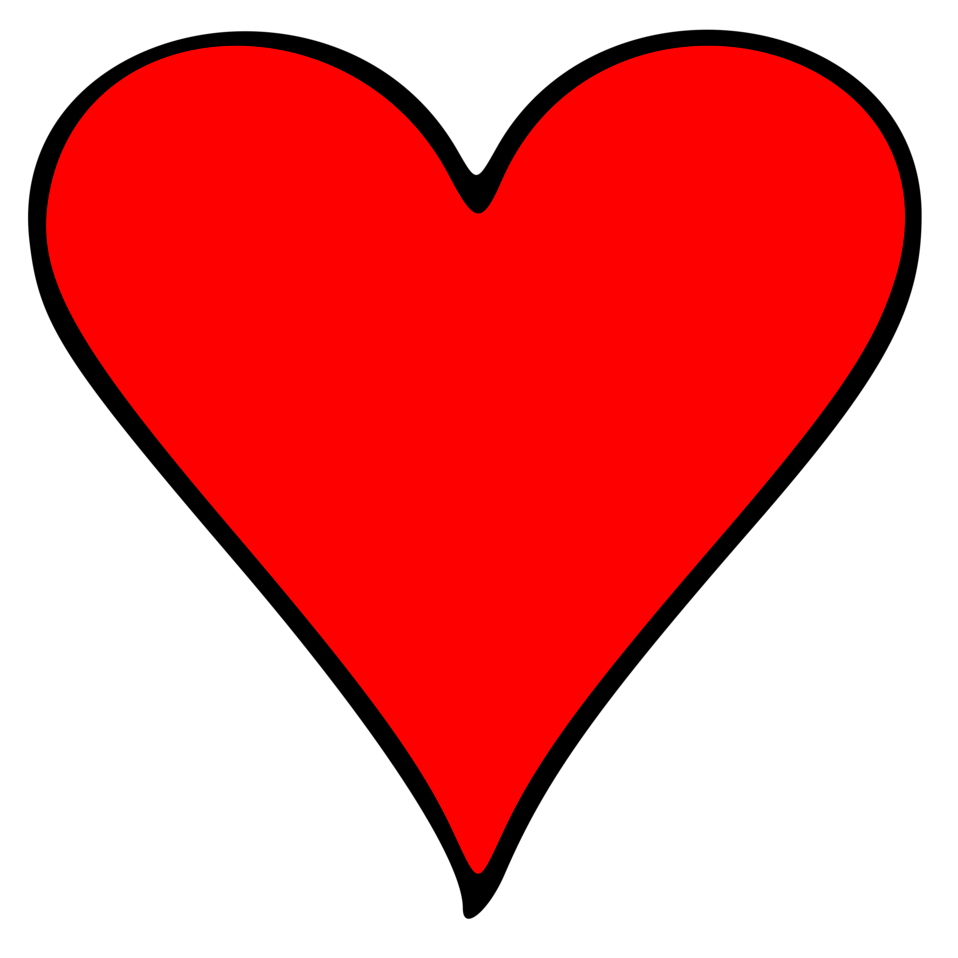 heart clipart, emoji illustration red heart #14299