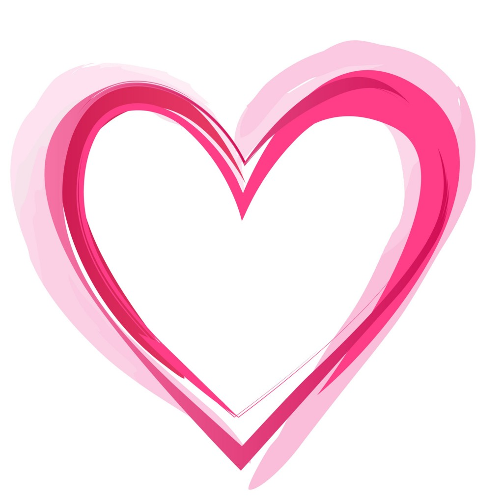 heart clipart, heart outline #14307