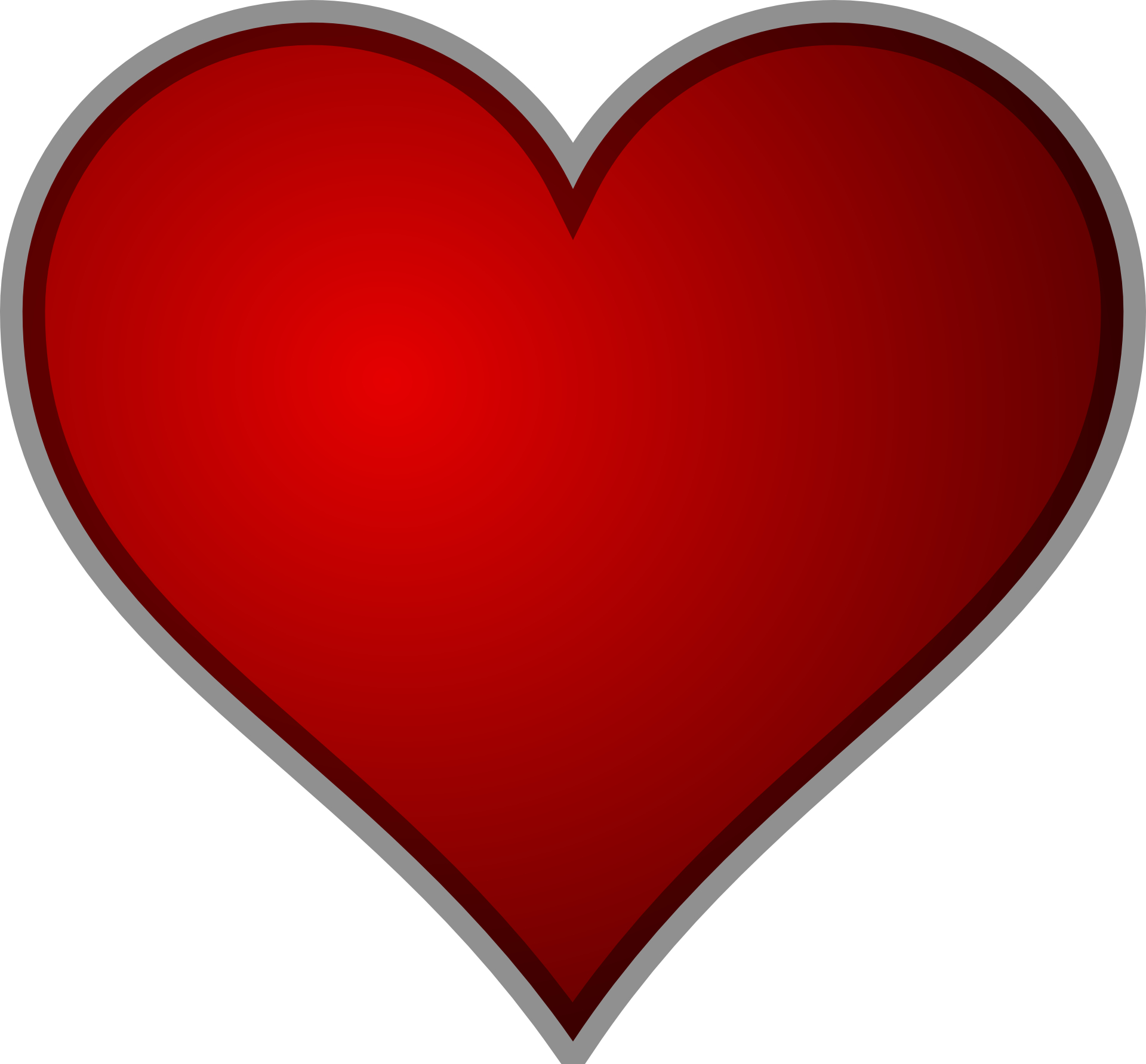 heart clipart, red heart outline download clip art clip #14303