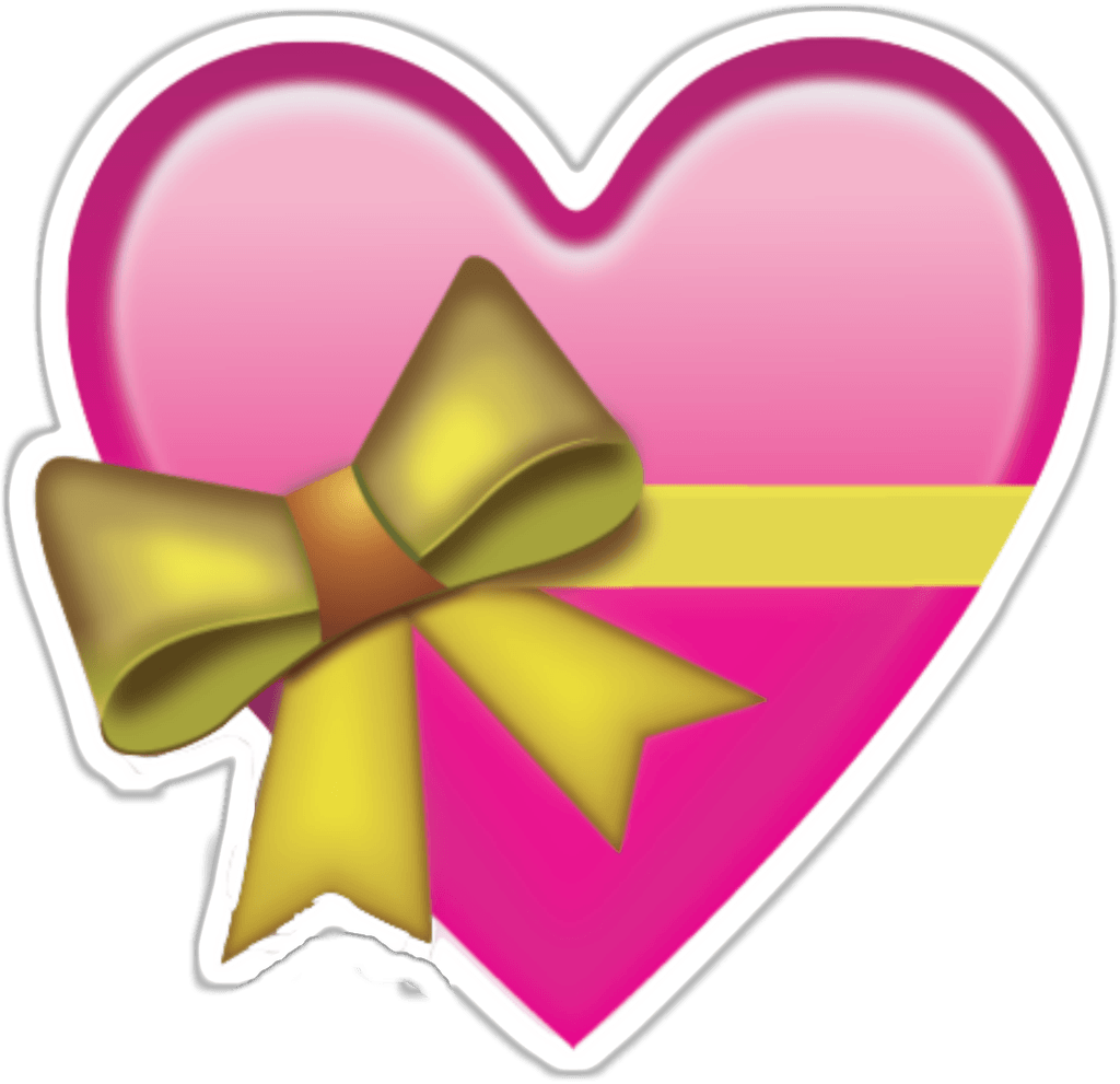 heart with bow emoji png images #14328