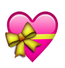 ios emoji heart with ribbon #14339