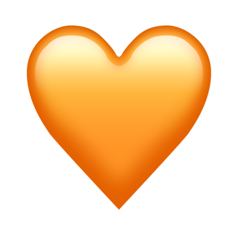 orange heart emoji all the new emojis just added the #14340