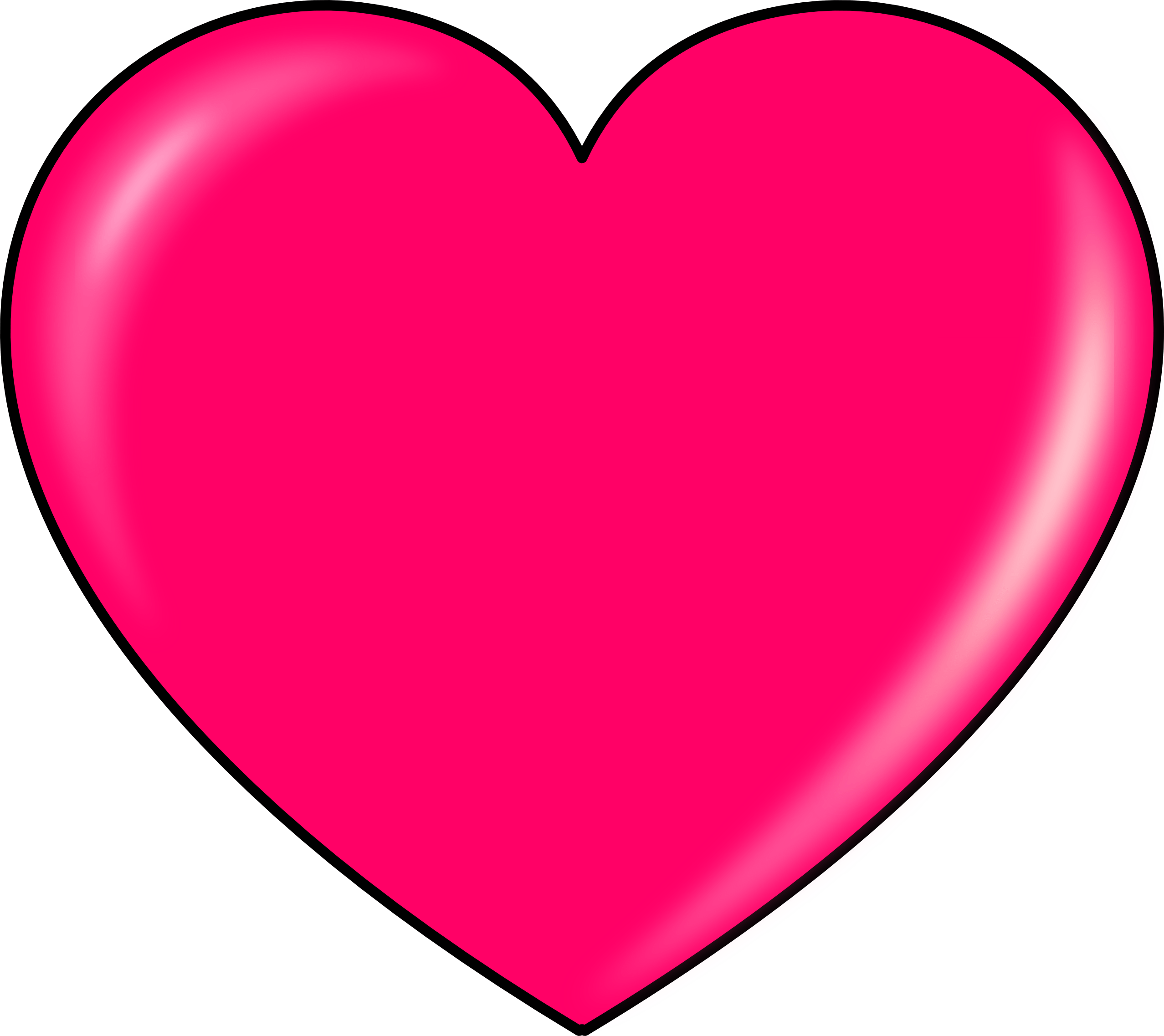 pink heart clipart transparent png #14319