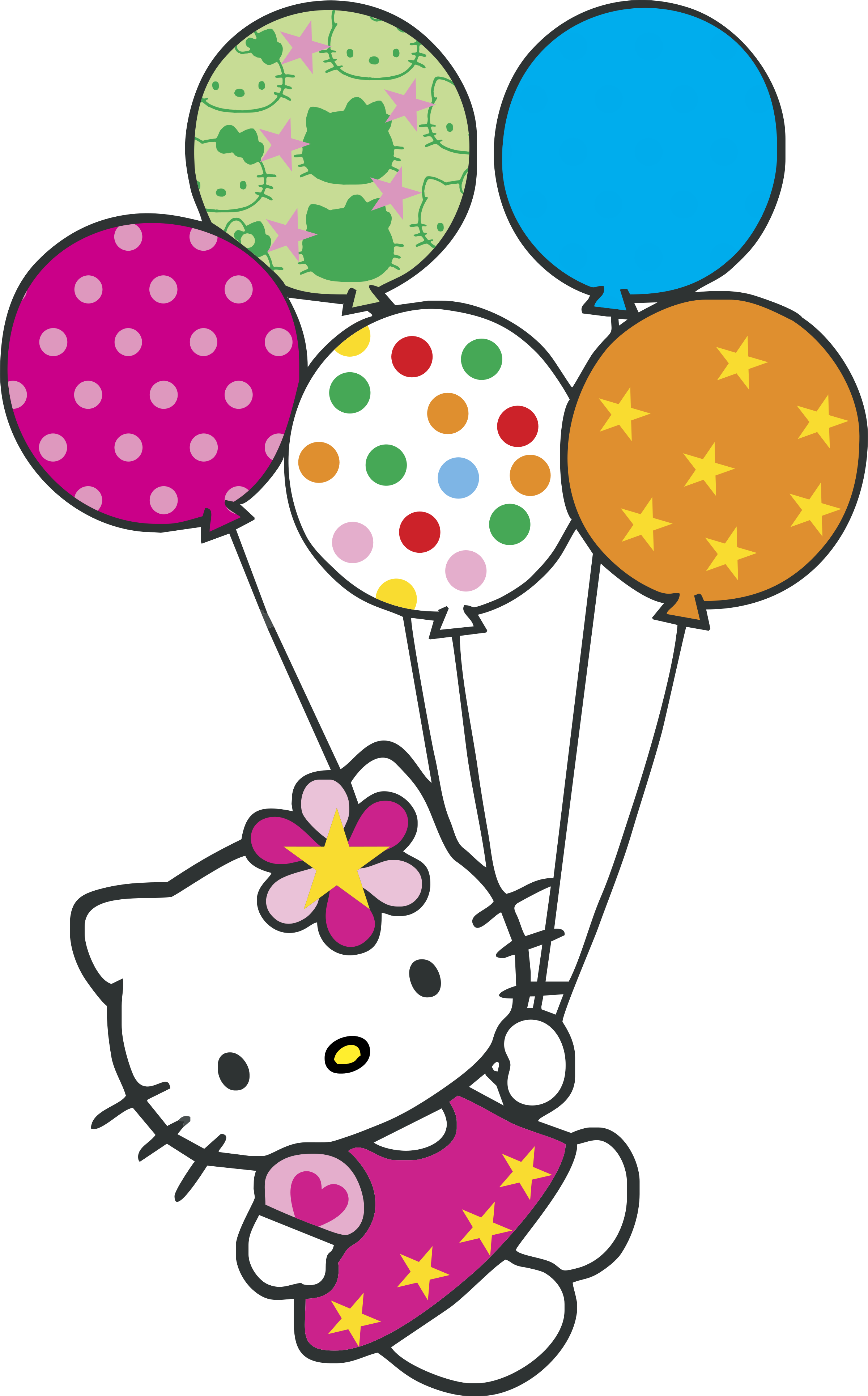 hello kitty con globitos logo png transparent svg vector #27925