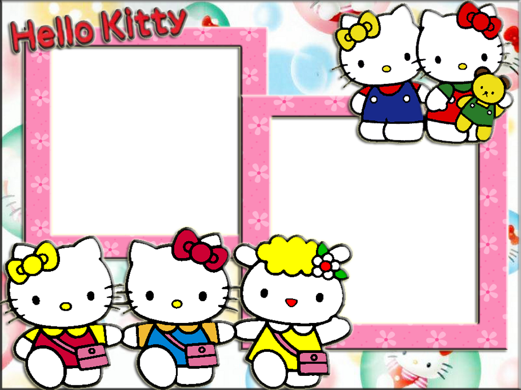 hello kitty photo frame wallpapers high quality download #27944
