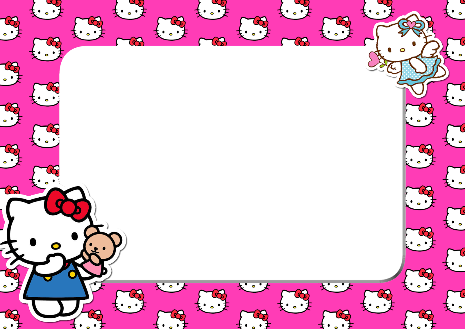 hello kitty pink head png frame printable png frames #27943