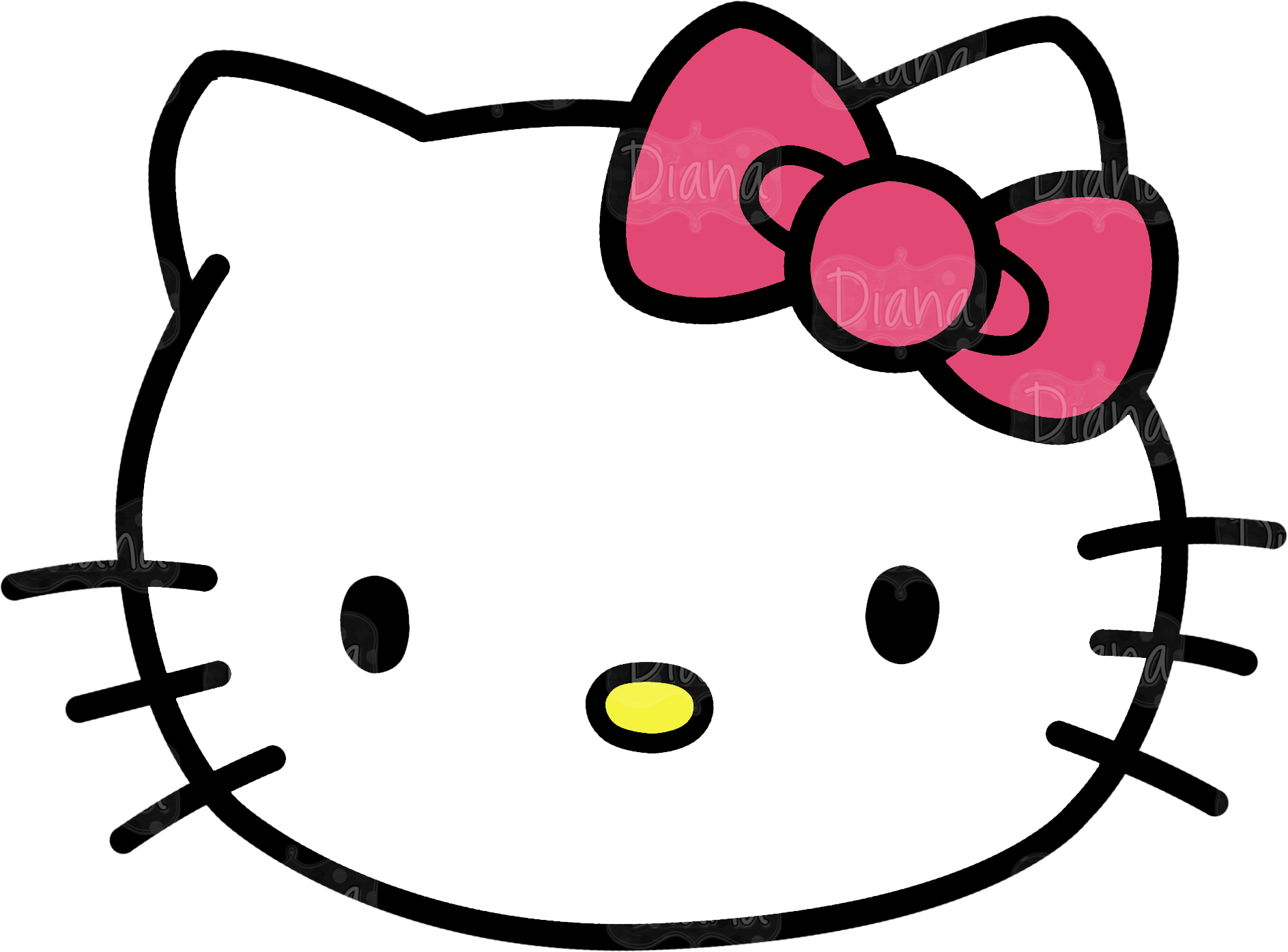 hello kitty template doliquid #27935