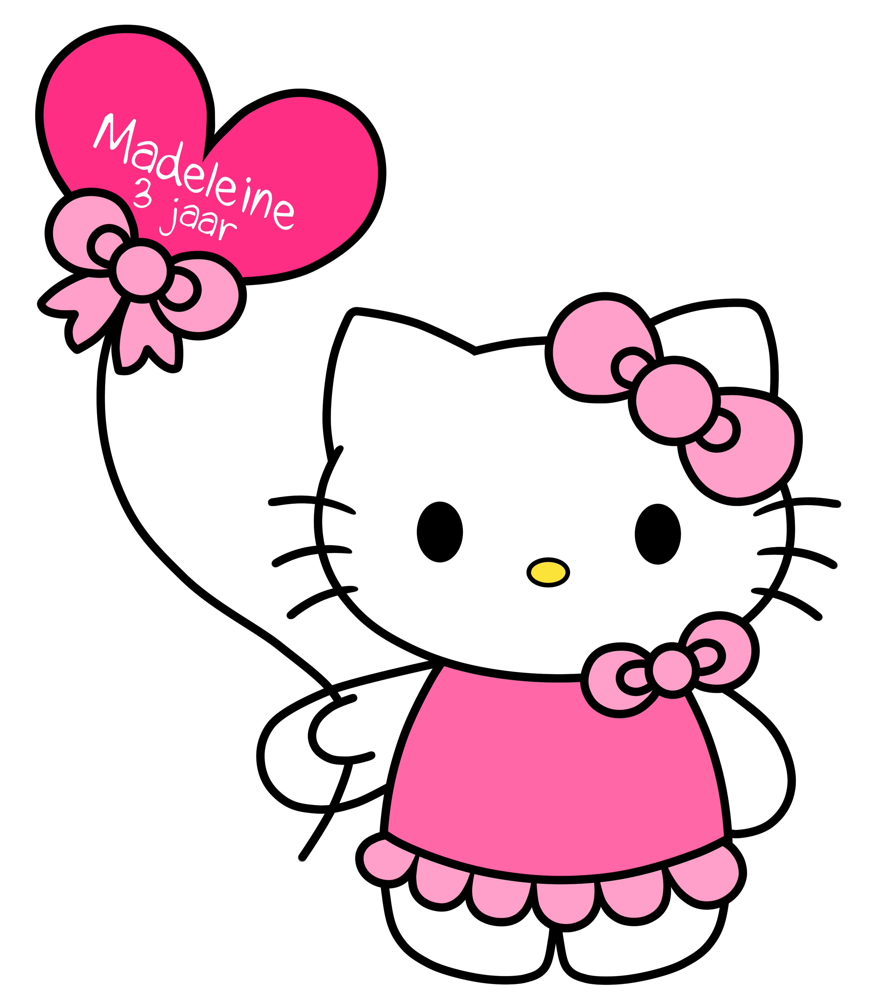 hello kitty with balloons png download clip art #27941