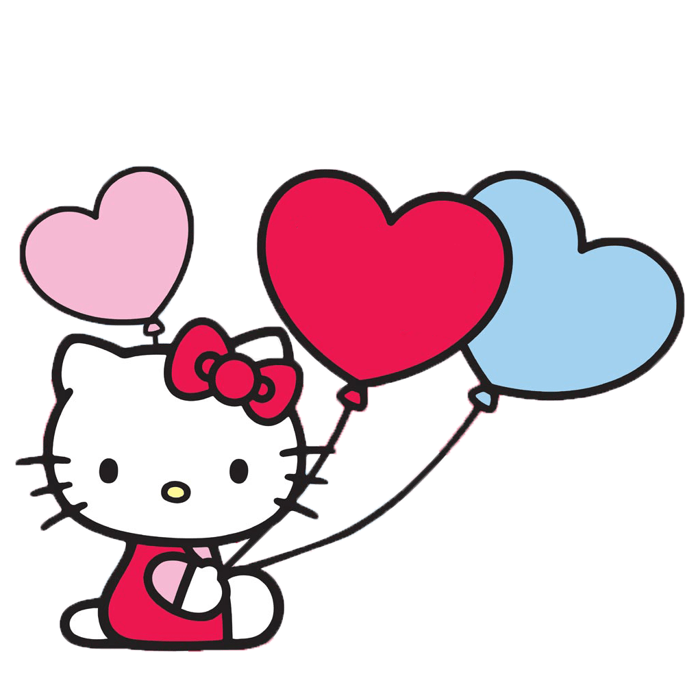 hello kitty with balloons transparent png stickpng #27924