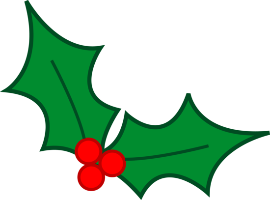 green christmas holly leaves clip art #28125