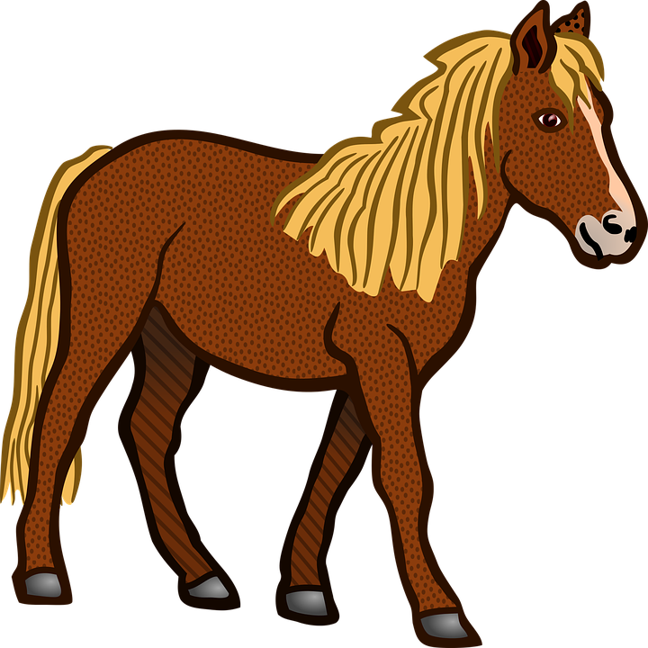 vector graphic horse animal farm animal brown #15769