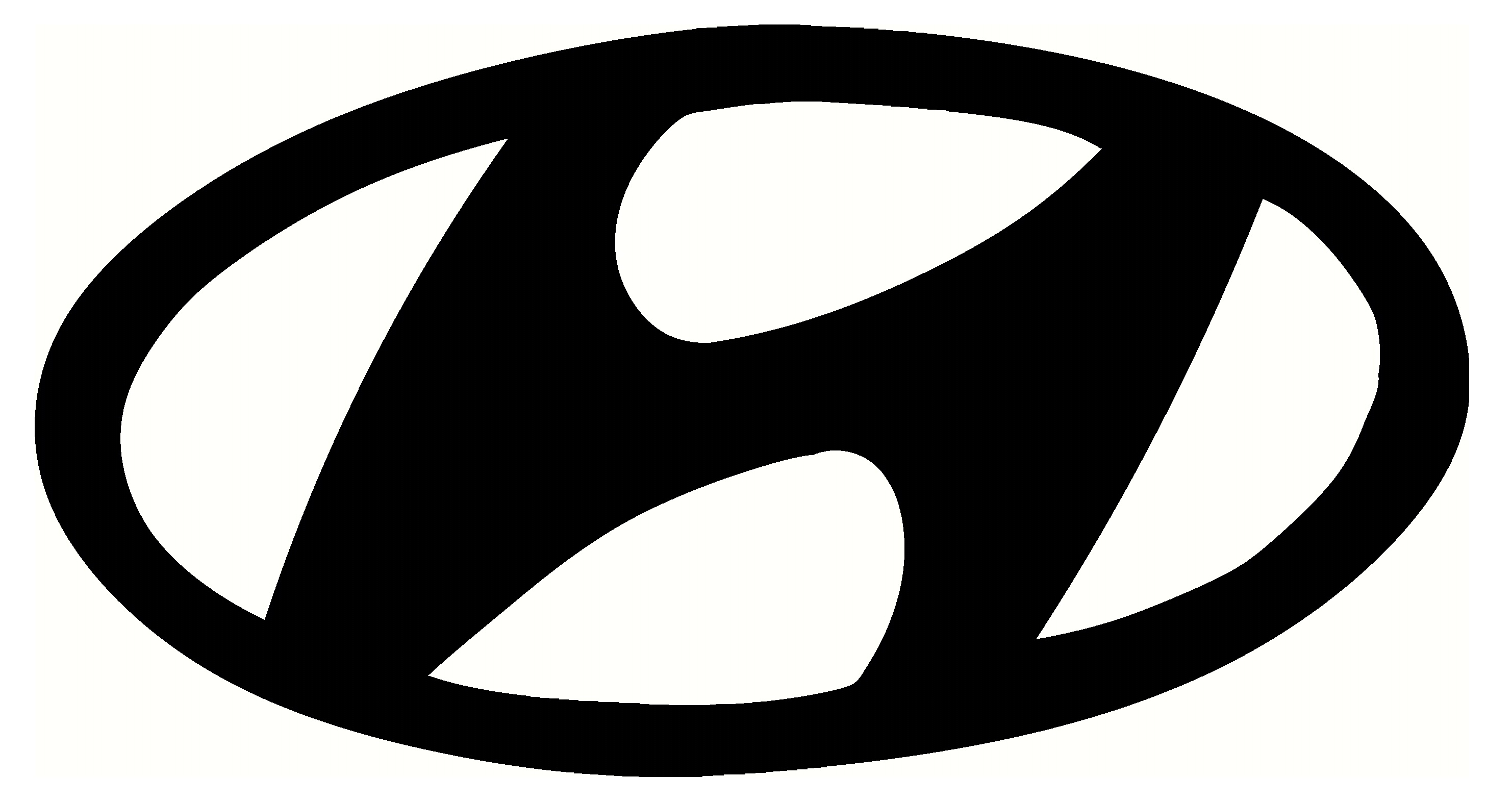 hyundai logo black design #357