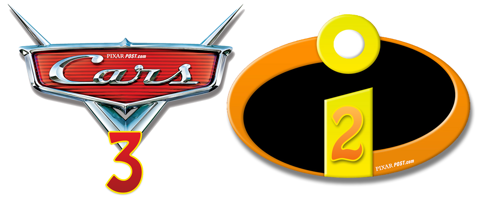 cars 3, incredibles png logo 5191